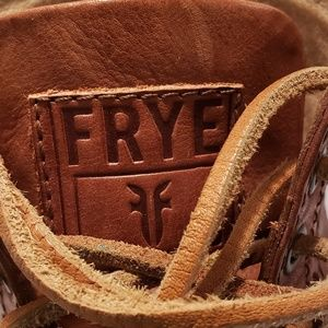 Frye Shoes - Frye Hudson Cognac Leather Wingtip Ankle Boots